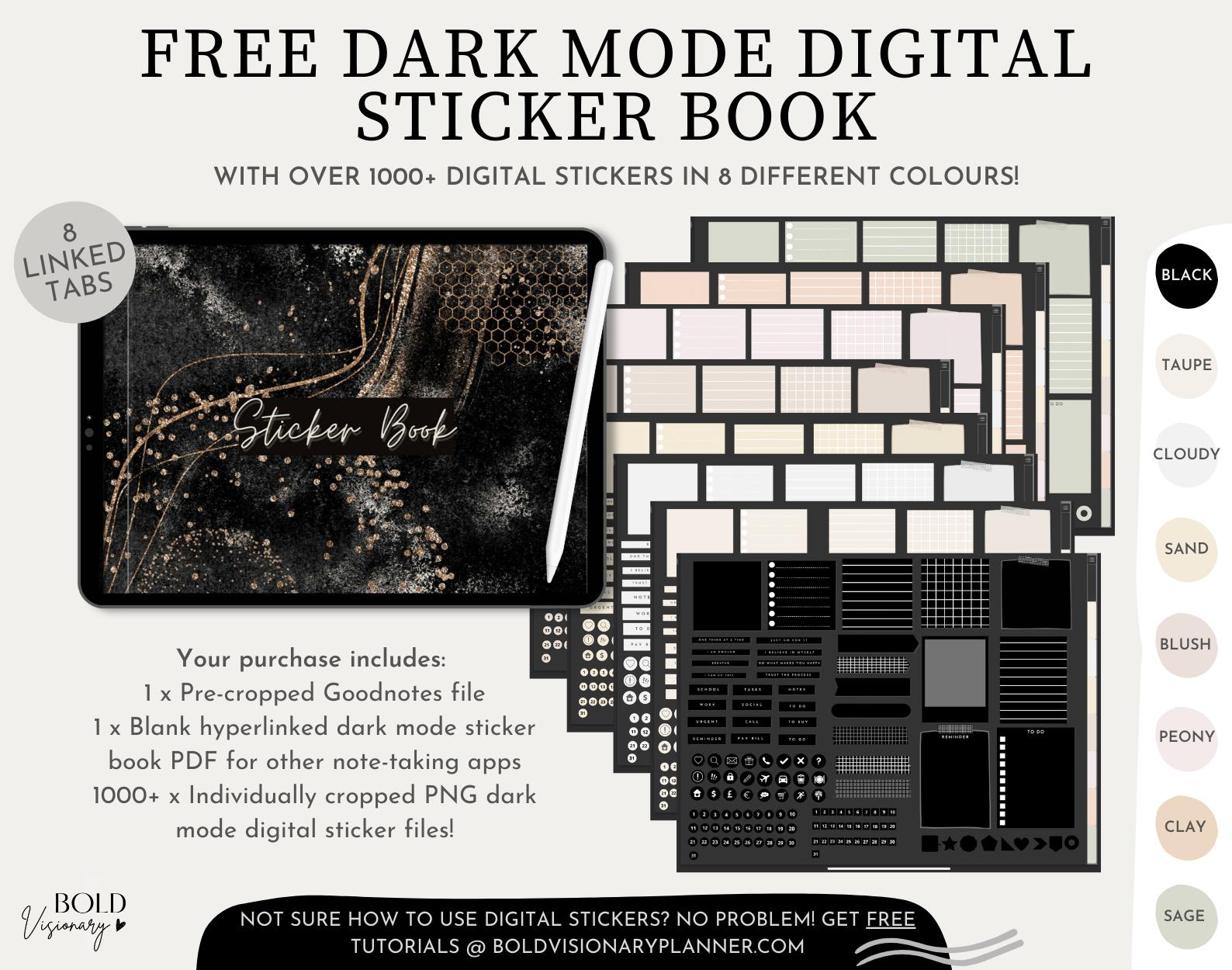 Dark-Mode-Digital-Sticker-Book-Bold-Visionary-Digital-Blog-Planner